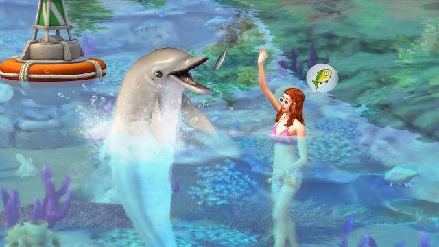 """""""The Sims 4 Жизнь на острове"""", «The Sims 4», игра, симулятор, коды для The Sims 4, карьеры, навыки, русалки, остров, спасатель, водолаз, экология, игровые коды, чит-коды, помощь по игре, извержение вулкана, дельфины, ливень, Сулань,"""
