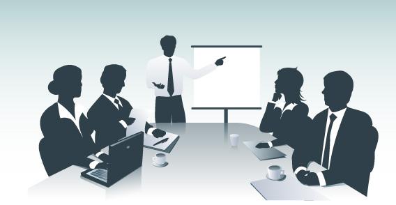 Equipe em seus negócios