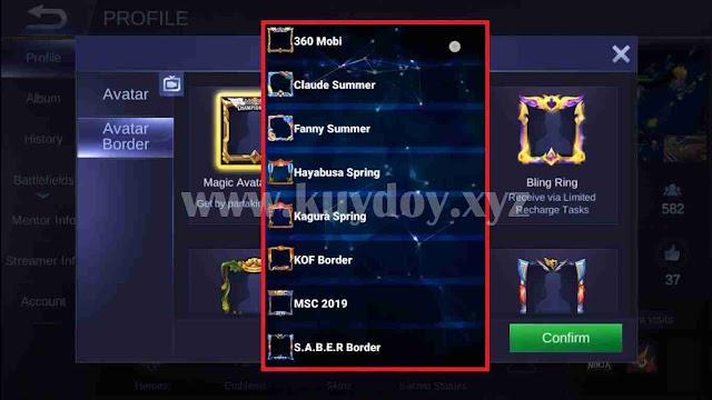 Cara Mendapatkan Semua Custom Border Mobile Legends Unity Engine Gratis