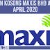 KERJAKOSONG! Jawatan Kosong Maxis Bhd Ambilan April 2020