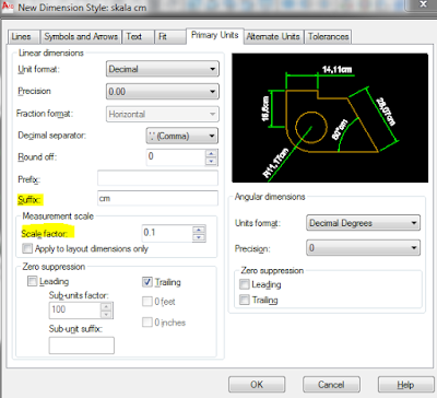 membuat keterangan satuan pada dimensi autocad