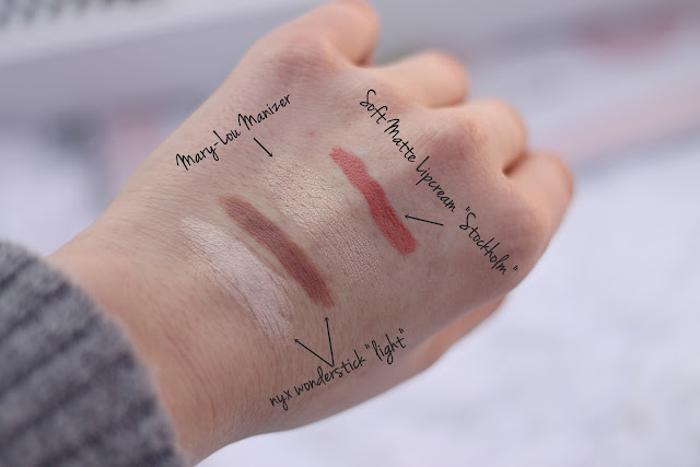 Swatches zu Nyx Soft Matte Lip Cream Mary Lou Manizer