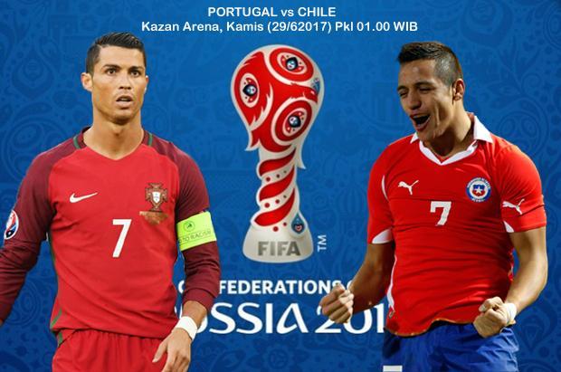 Preview Portugal vs Chile: Duel Raja Benua