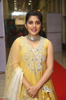Nivetha Thamos in bright yellow dress at Ninnu Kori pre release function ~  Exclusive (53).JPG