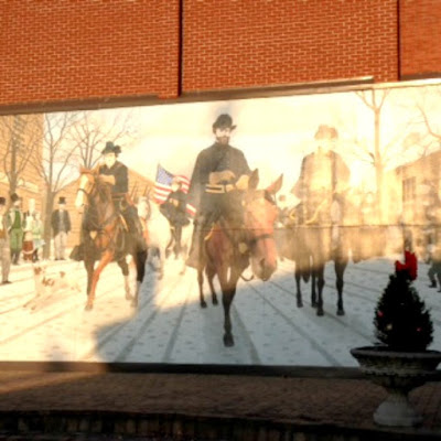 Civil War Street Art and Wall Mural in Campbellsville Kentucky