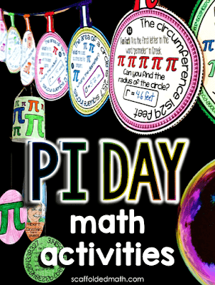 It's almost Pi Day! In this post, I share a few Pi Day math activities, including some math pennants, a Pi Day mobile craft and a couple new Pi Day digital math escape rooms. I also want to share some of the fun facts I've come across about pi over the years.