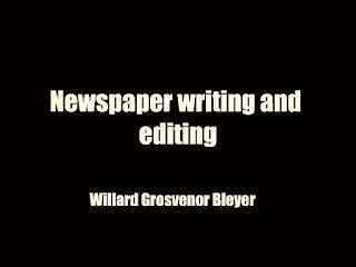 Newspaper writing and editing