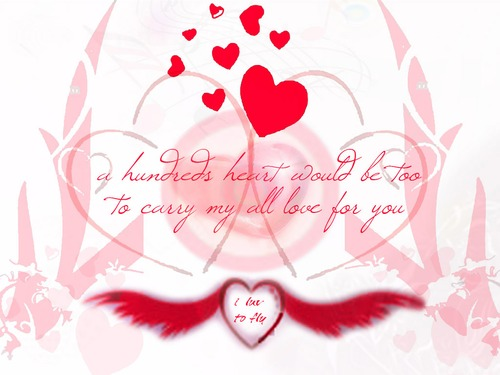 hundred hearts love wallpapers
