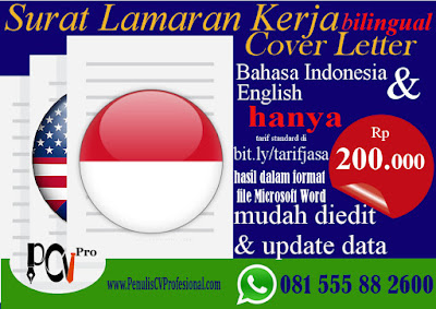 Jasa Pembuatan Surat Lamaran Kerja Bahasa Inggris (English)