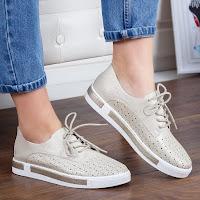 Pantofi casual femei ieftini bej de vara