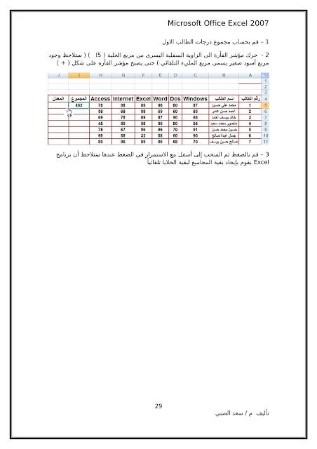 أساسيات برنامج اكسل Excel elebda3.net-5858-29.