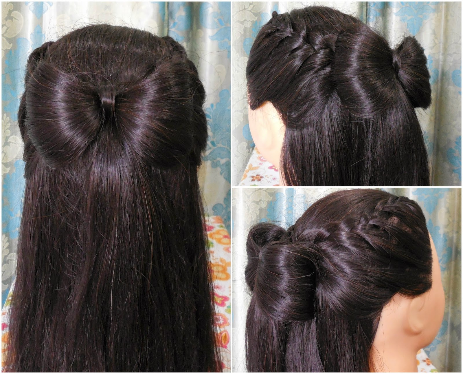 Hair Bow Styles: How To : Bow With Lace Braid