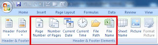 How to insert Page Number in Excel Sheet in Hindi