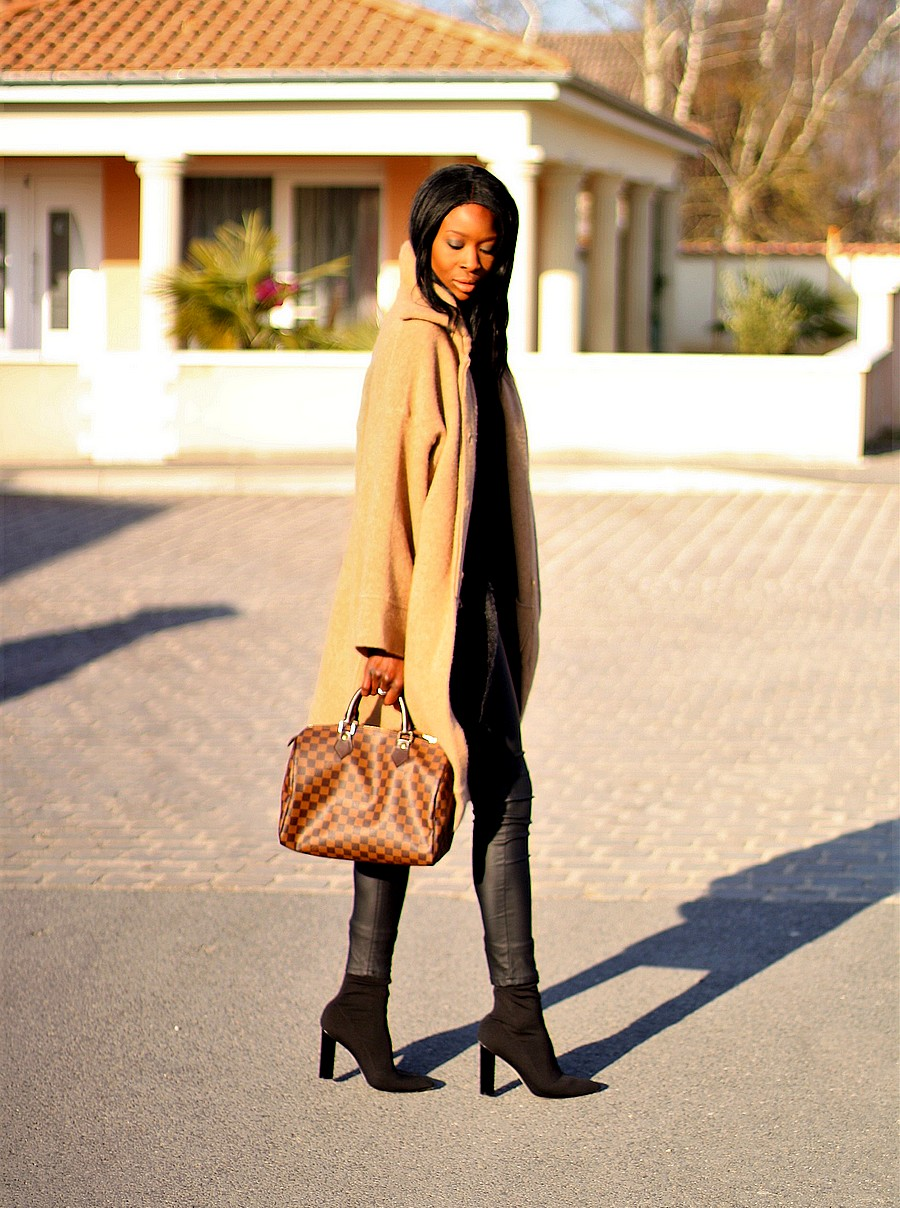 ootd-manteau-camel-manches-cloche-zara-sac-speed-louis-vuitton-pantalon-enduit-sock-boots