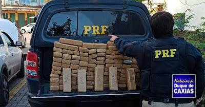 PRF apreende 100 quilos de maconha em Duque de Caxias