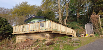 raised decking Aberdovey