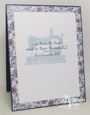ODBD A Time To Mend, ODBD Americana Quilt Collection, Inside Card View by Angie Crockett