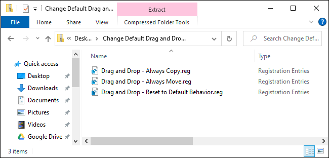 File registry Drag n Drop