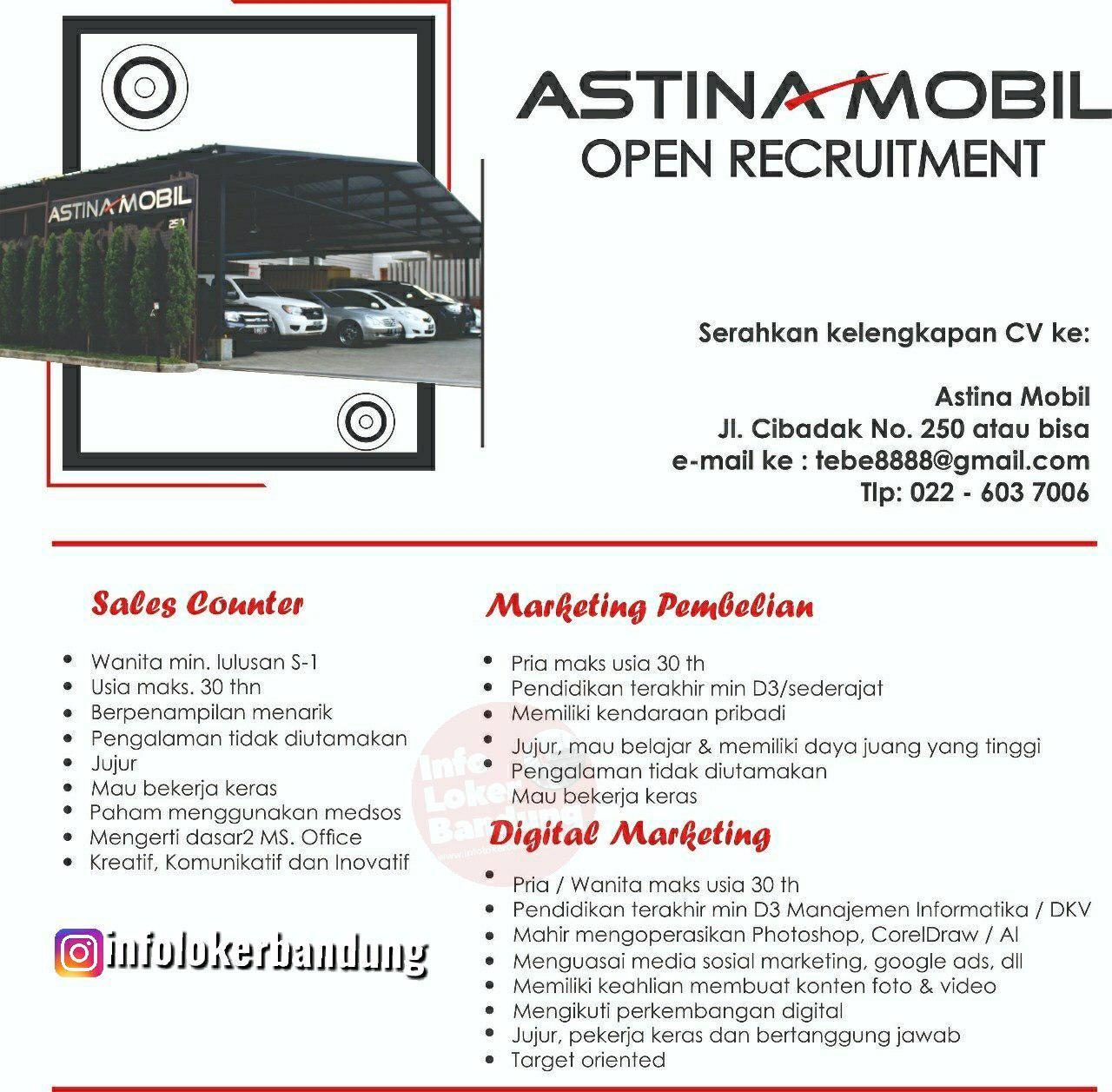 Lowongan Kerja Astina Mobile Bandung April 2019