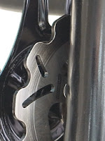 アドレスV125Gに取付けしたブレーキングディスクローター。ローターの面取りも綺麗にやっていただきました。