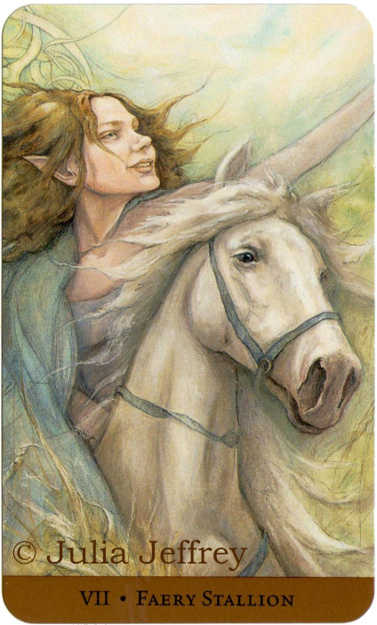 Tarot of the Hidden Realm, Feary Stallion, Chariot, Julia Jeffrey