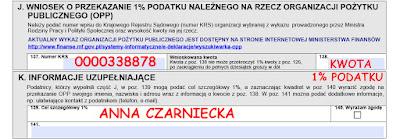 Jak wstawić w PIT 1% podatku