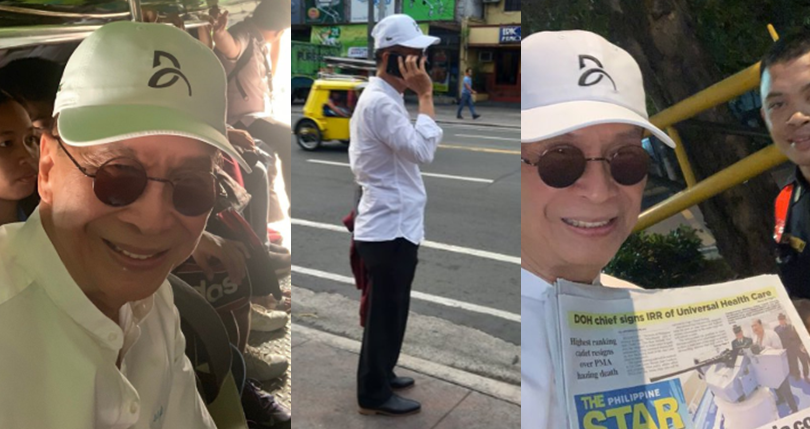LOOK: Panelo rides jeepney in commute challenge