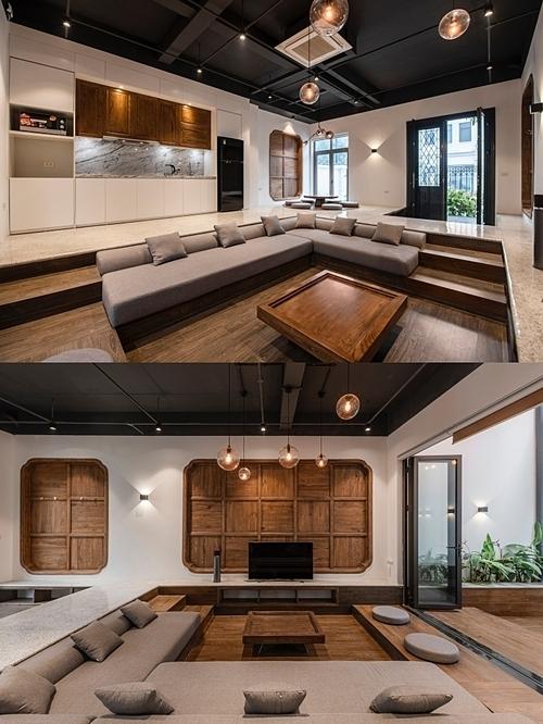 Ngôi nhà hiện đại có nội thất theo phong cách dân gian