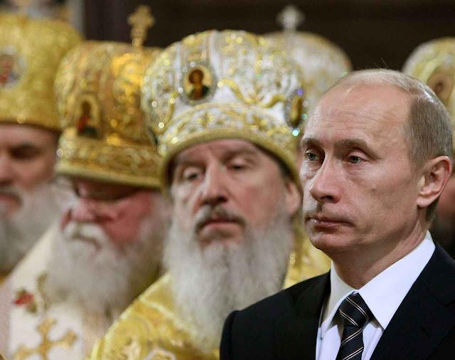 A igreja ortodoxa russa é uma das pontas do tridente político de Putin.