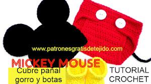 Conjunto Mickey Mouse Crochet para Bebés / Tutorial