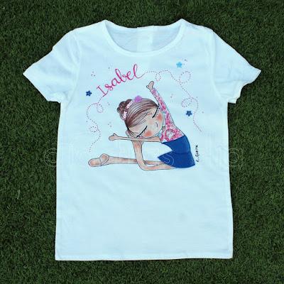 Camiseta personalizada gimnasia