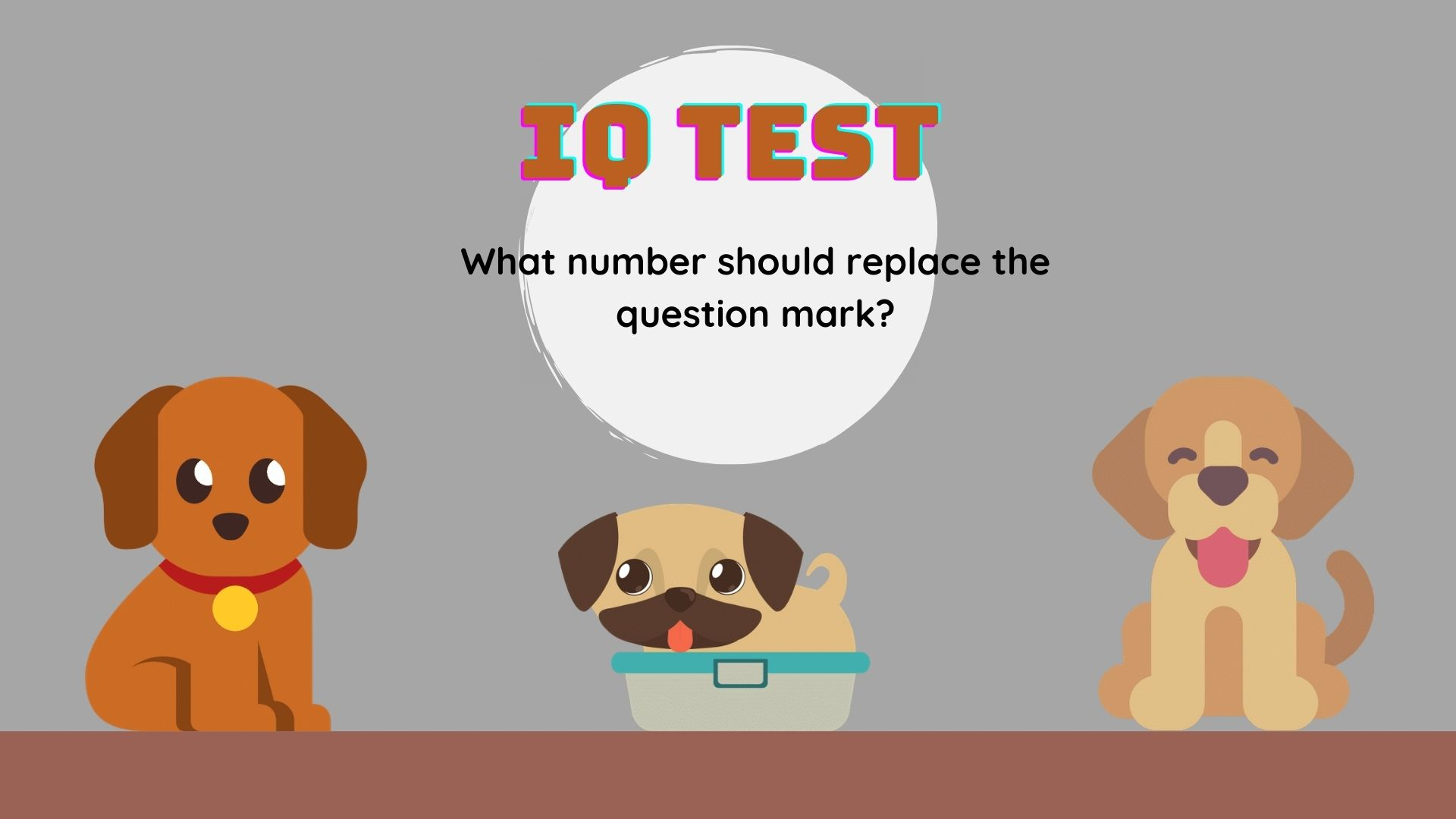 IQ Test: What number should replace the question mark?