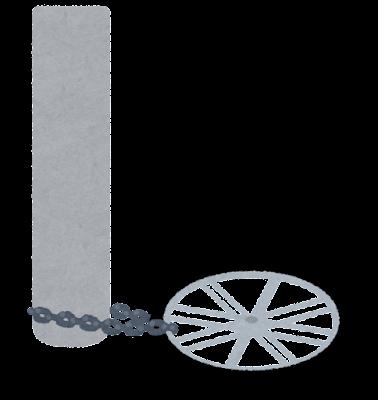 車輪以外盗まれた自転車のイラスト
