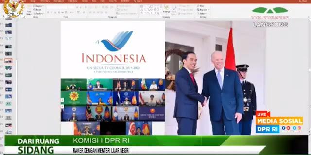 Pamer Foto Jokowi Dan Biden, Menlu Retno Kena Tegur Komisi I DPR
