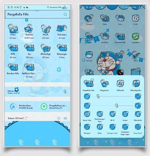 Doraemon Blue Tema Keren untuk Vivo 4