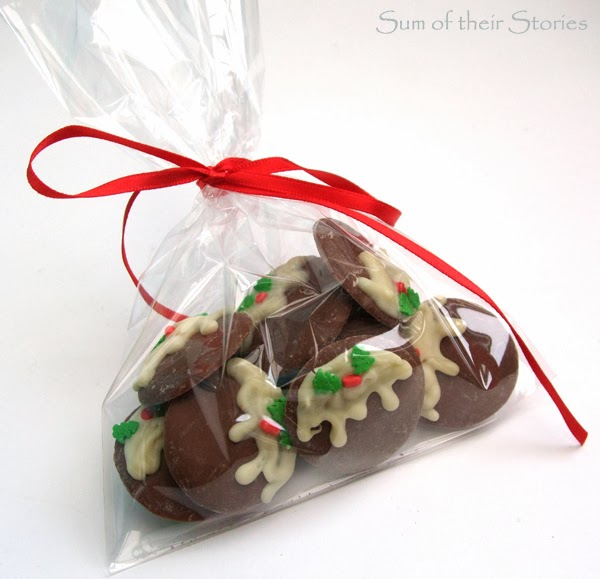 Christmas Pud Chocolate Buttons