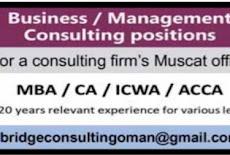 شركة متخصصة في إدارة الأعمال – وظائف شاغرة