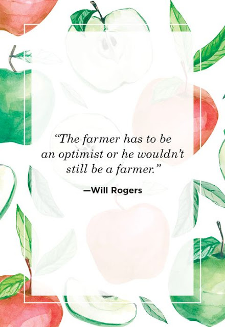 The Farmer Has To Be An Optimist Or He Wouldn't