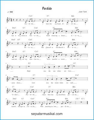 Perdido chords jazz standar
