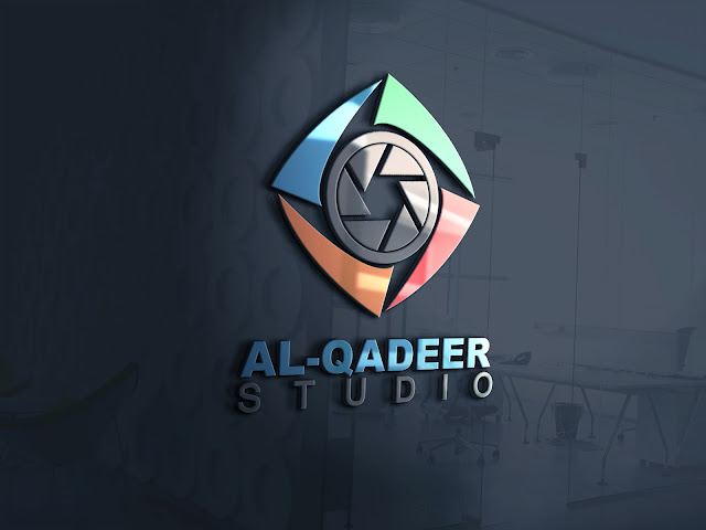 Logo Mockup Template 3d Glass Window Psd Free Download Al Qadeer