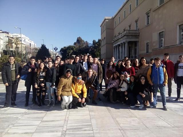 Εκπαιδευτική επίσκεψη του Λυκείου Ερμιόνης στη Βουλή, το Αρχαίο Θέατρο του Διονύσου και το Ωδείο Ηρώδου του Αττικού