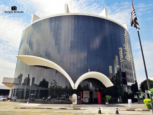 Vista ampla da Antiga Sede do Parlamento Latino-Americano - Memorial da América Latina - São Paulo