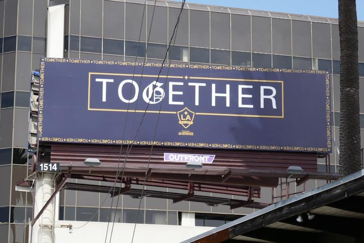 LA Galaxy Together Covid19 billboard