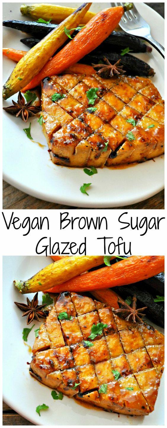 Vegan Brown Sugar Glazed Tofu