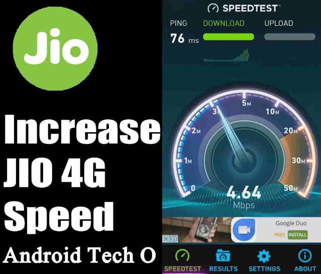 Increase Jio Speed 100% ((2019))