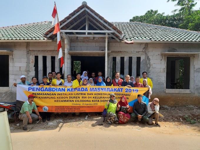 PNJ Bantu Pembangunan Posyandu dan Pemasangan Instalasi Listrik