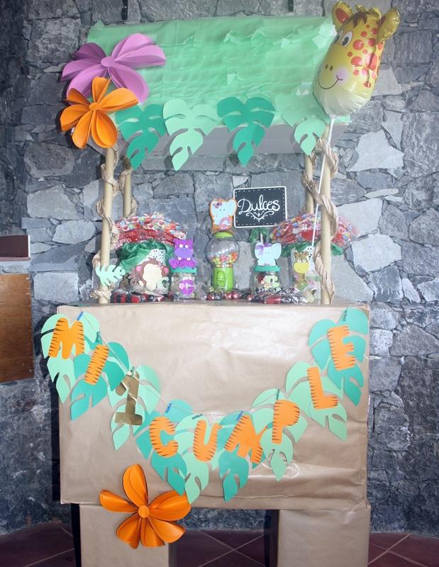 decorar carrito de golosinas fiesta de cumpleaños
