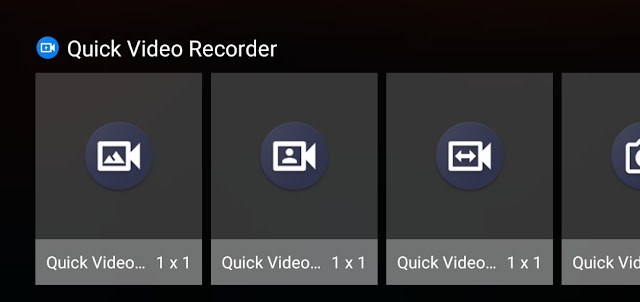 Quick Video Recorder Widgets