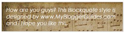 Blogger Blockquote Style 26