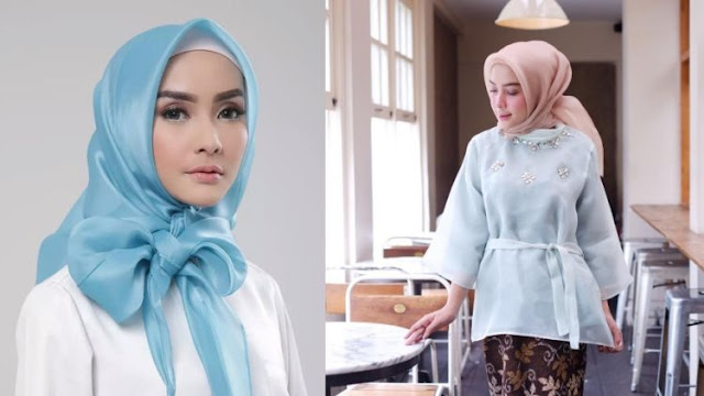 Tips Simple, Memakai Jilbab Organza agar Terlihat Elegan